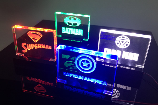 Batman perspex light